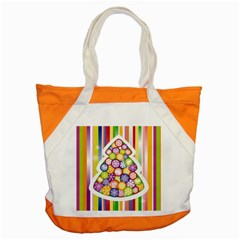Christmas Tree Colorful Accent Tote Bag