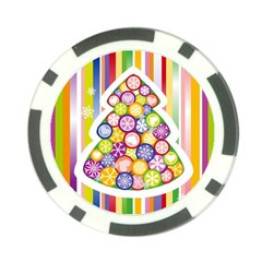 Christmas Tree Colorful Poker Chip Card Guards