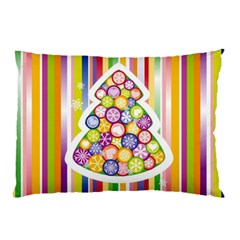 Christmas Tree Colorful Pillow Case
