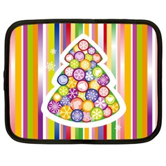 Christmas Tree Colorful Netbook Case (XL)