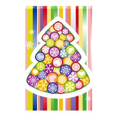 Christmas Tree Colorful Shower Curtain 48  x 72  (Small)