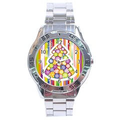 Christmas Tree Colorful Stainless Steel Analogue Watch