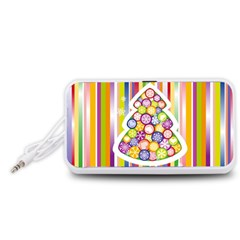 Christmas Tree Colorful Portable Speaker (White)