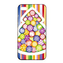 Christmas Tree Colorful Apple iPhone 4/4s Seamless Case (Black)