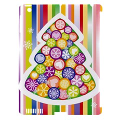 Christmas Tree Colorful Apple iPad 3/4 Hardshell Case (Compatible with Smart Cover)