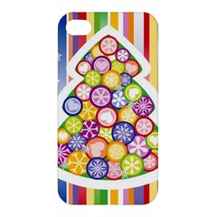 Christmas Tree Colorful Apple iPhone 4/4S Premium Hardshell Case