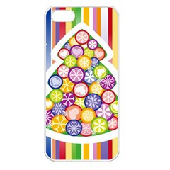 Christmas Tree Colorful Apple iPhone 5 Seamless Case (White)