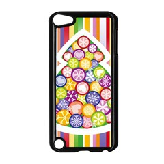 Christmas Tree Colorful Apple iPod Touch 5 Case (Black)
