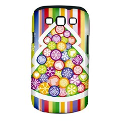 Christmas Tree Colorful Samsung Galaxy S III Classic Hardshell Case (PC+Silicone)
