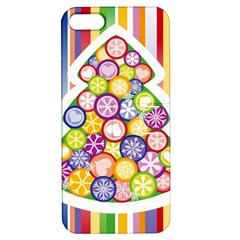 Christmas Tree Colorful Apple iPhone 5 Hardshell Case with Stand