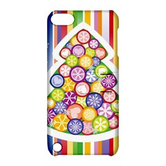 Christmas Tree Colorful Apple iPod Touch 5 Hardshell Case with Stand