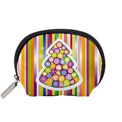 Christmas Tree Colorful Accessory Pouches (Small)