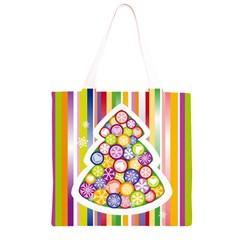Christmas Tree Colorful Grocery Light Tote Bag