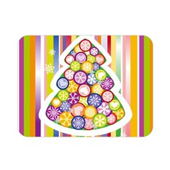 Christmas Tree Colorful Double Sided Flano Blanket (Mini)