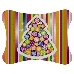 Christmas Tree Colorful Jigsaw Puzzle Photo Stand (Bow)