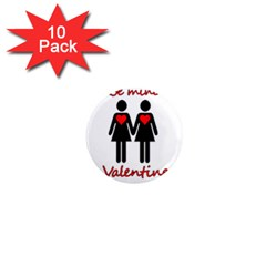 Be my Valentine 2 1  Mini Magnet (10 pack)