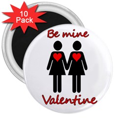 Be my Valentine 2 3  Magnets (10 pack)