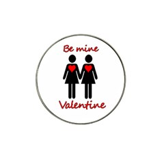 Be my Valentine 2 Hat Clip Ball Marker (10 pack)