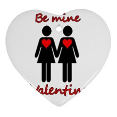 Be my Valentine 2 Heart Ornament (2 Sides)