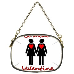 Be my Valentine 2 Chain Purses (One Side)