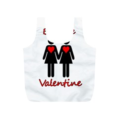 Be my Valentine 2 Full Print Recycle Bags (S)