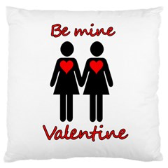 Be my Valentine 2 Large Flano Cushion Case (One Side)