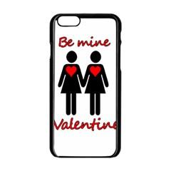 Be my Valentine 2 Apple iPhone 6/6S Black Enamel Case