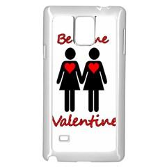 Be my Valentine 2 Samsung Galaxy Note 4 Case (White)