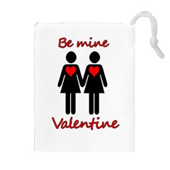 Be my Valentine 2 Drawstring Pouches (Extra Large)