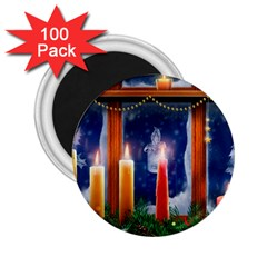 Christmas Lighting Candles 2.25  Magnets (100 pack)