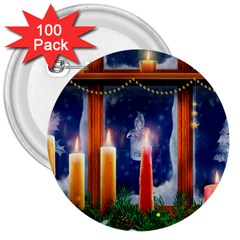 Christmas Lighting Candles 3  Buttons (100 pack)