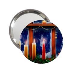 Christmas Lighting Candles 2.25  Handbag Mirrors
