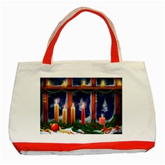 Christmas Lighting Candles Classic Tote Bag (Red)