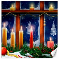 Christmas Lighting Candles Canvas 12  x 12