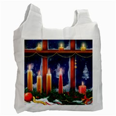 Christmas Lighting Candles Recycle Bag (One Side)