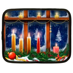 Christmas Lighting Candles Netbook Case (XL)
