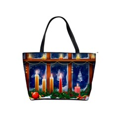 Christmas Lighting Candles Shoulder Handbags