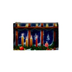 Christmas Lighting Candles Cosmetic Bag (Small)