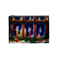 Christmas Lighting Candles Cosmetic Bag (Medium)