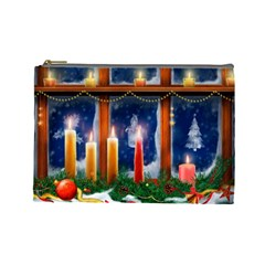Christmas Lighting Candles Cosmetic Bag (Large)