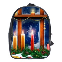 Christmas Lighting Candles School Bags(Large)