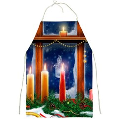 Christmas Lighting Candles Full Print Aprons