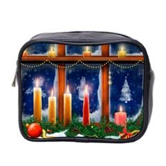 Christmas Lighting Candles Mini Toiletries Bag 2-Side