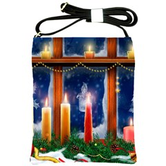Christmas Lighting Candles Shoulder Sling Bags