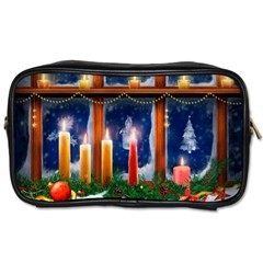 Christmas Lighting Candles Toiletries Bags 2-Side