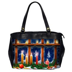 Christmas Lighting Candles Office Handbags (2 Sides)