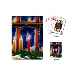 Christmas Lighting Candles Playing Cards (Mini)