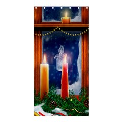 Christmas Lighting Candles Shower Curtain 36  x 72  (Stall)