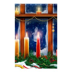Christmas Lighting Candles Shower Curtain 48  x 72  (Small)