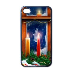Christmas Lighting Candles Apple iPhone 4 Case (Black)